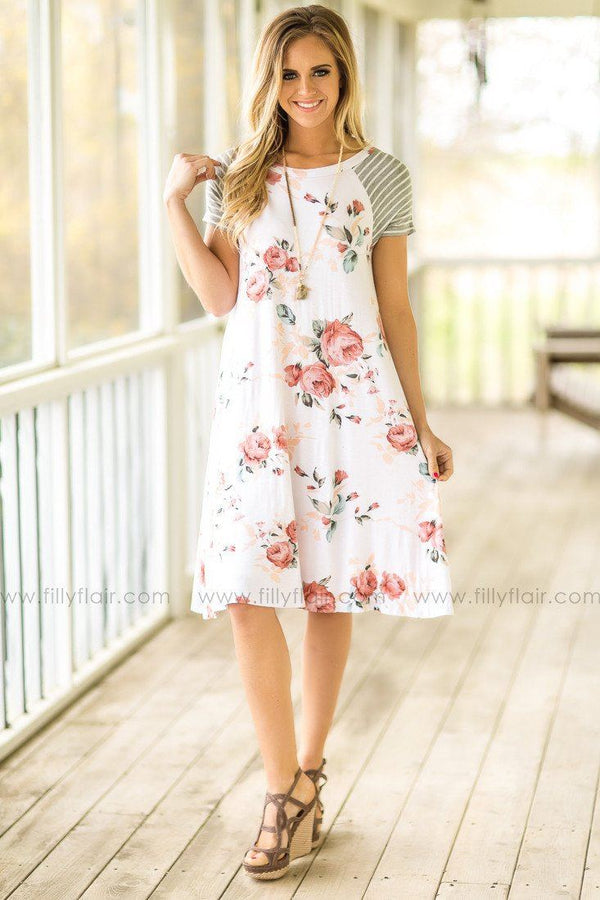 One Fine Day Floral Dress in Ivory