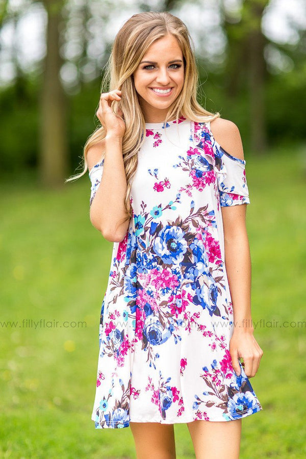 Now and Then Floral Ruffle Dress