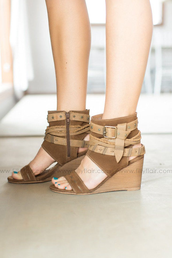 Naughty Monkey Lasalle Wedge in Tan