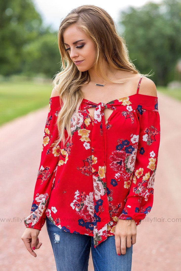 Floral print tops