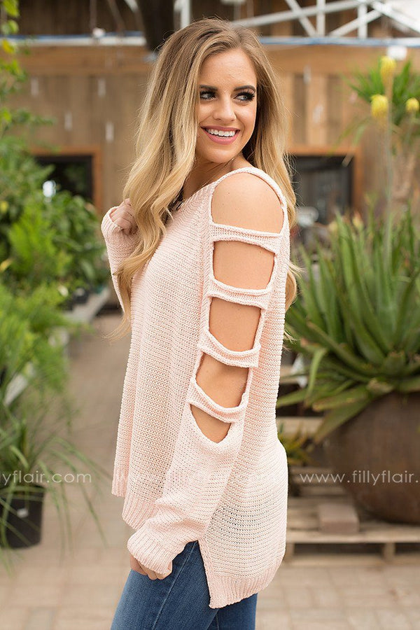 Perfect Oasis Cut Out Sweater in Pink