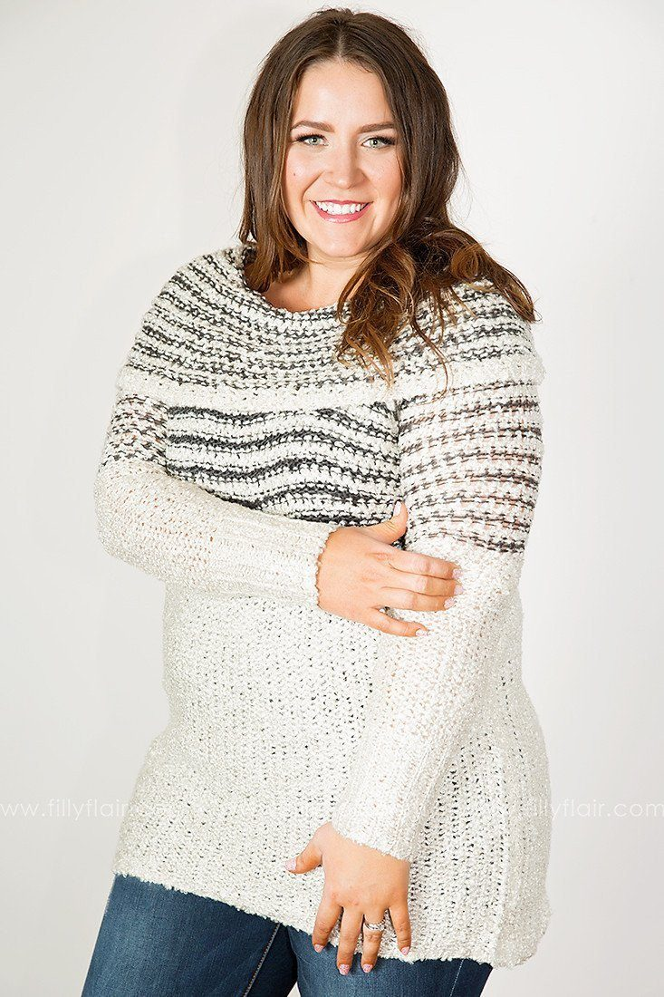 Softest Stripes Cowl Neck Sweater