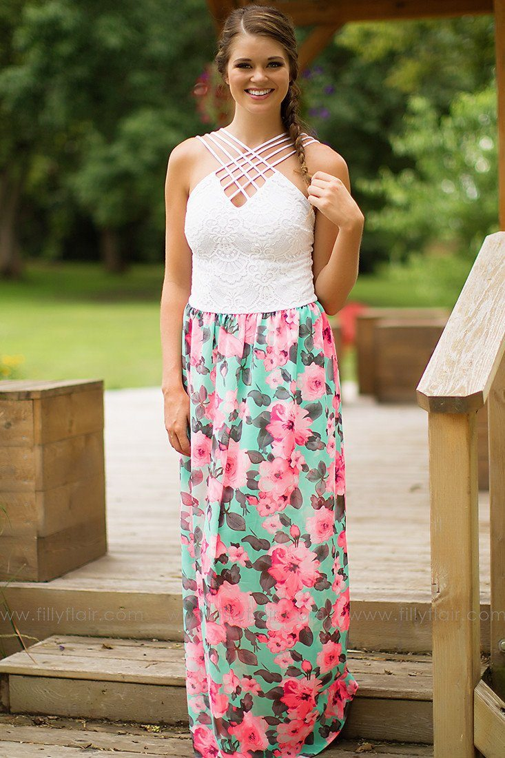 Dancing in the Moonlight Floral Maxi Dress