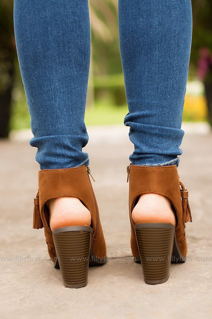 Take A Peek Booties In Brown