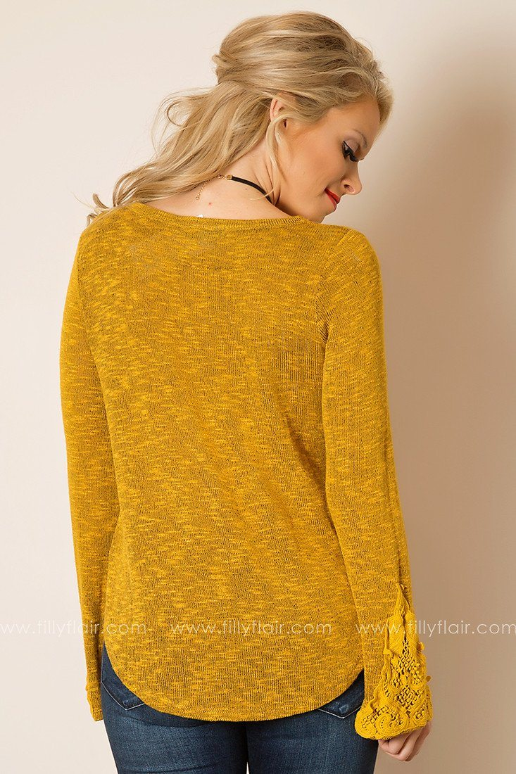 Fast Friends Top In Mustard
