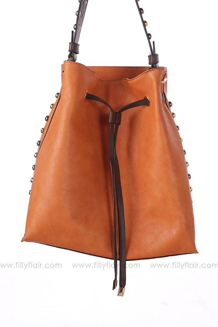 On The Go Shoulder Bag in Burnt Orange