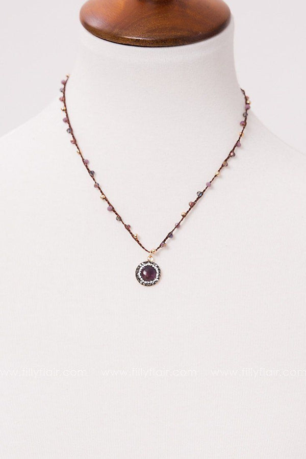 Touch of Grace Necklace in Purple