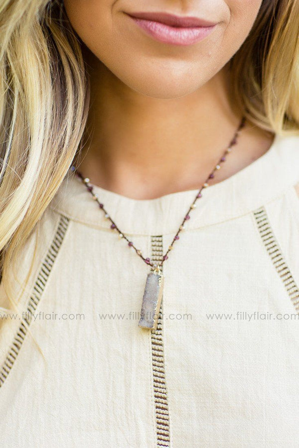 Boho Feel Stone Necklace