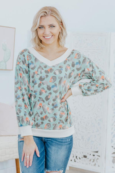 Go the Extra Mile Long Sleeve Top in Jade - Filly Flair