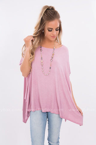 Saturday Fave Color Block Top in Dusty Pink