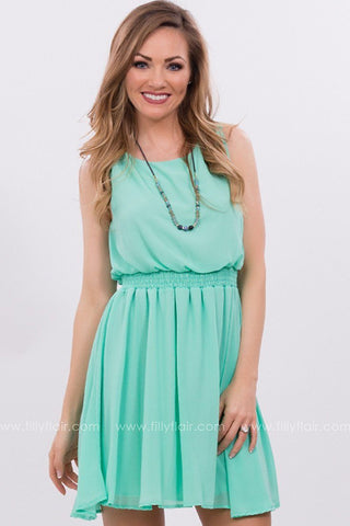 Sounds of Spring Dress in Mint