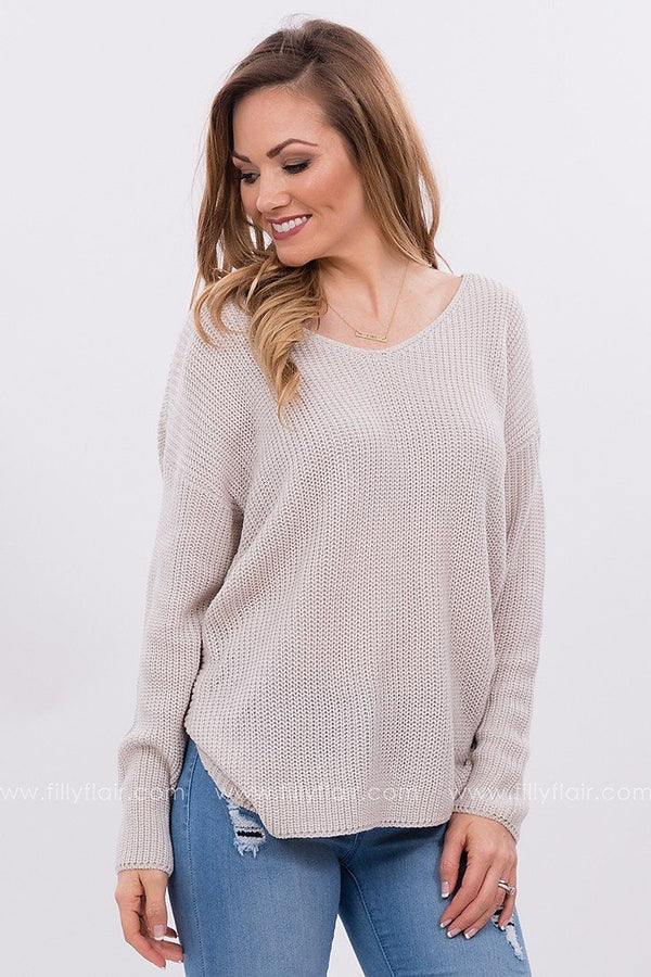 Knotted Back Sweater