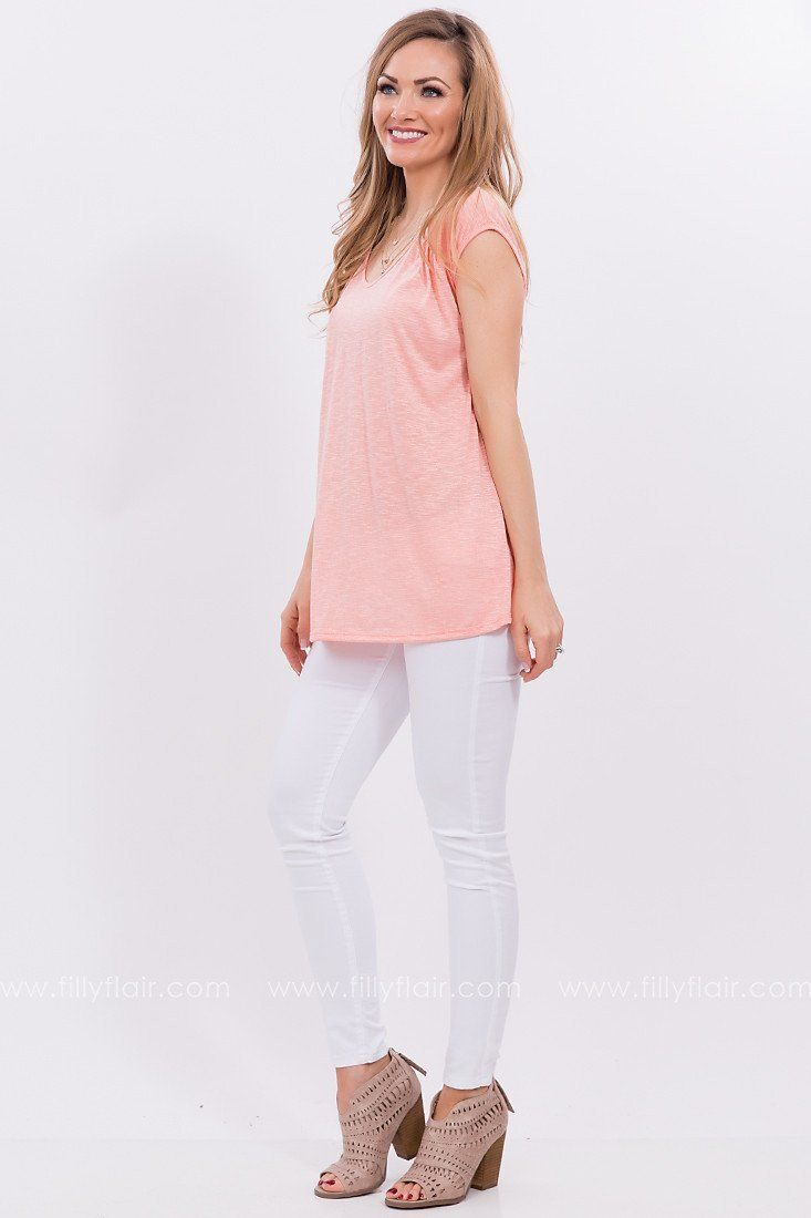 Sweet Memories Lace Up Top in Coral