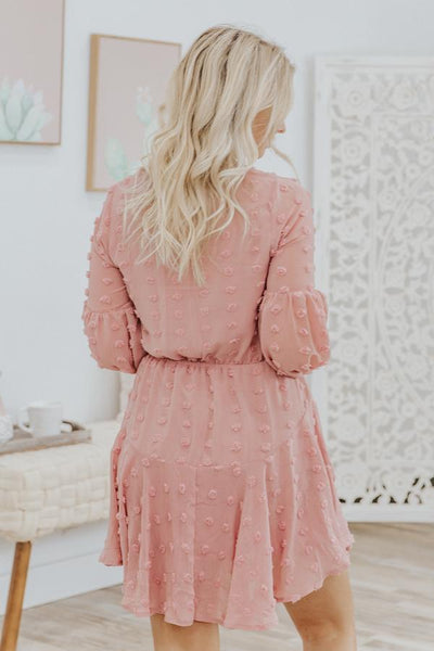 We Are All Different Long Sleeve Dress in Pink - Filly Flair