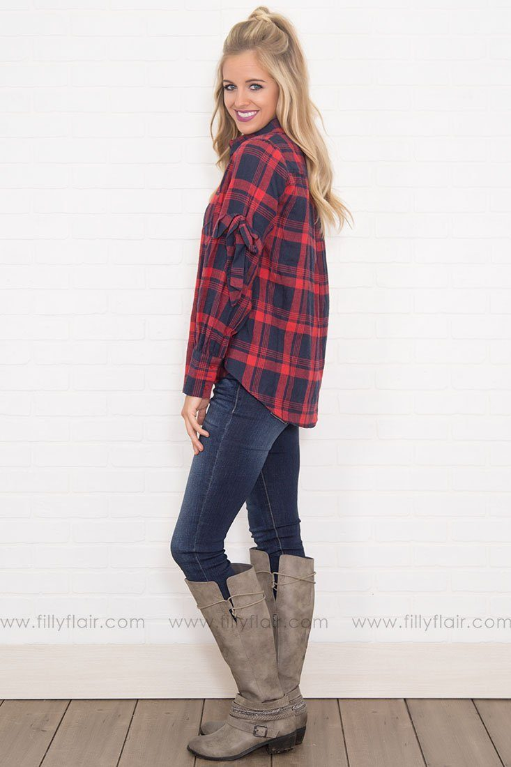 Greatest Love Story Plaid Long Sleeve W/ Bow Ties