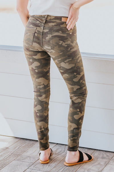 Jenson Judy Blue Distressed Skinny Jeans in Camo - Filly Flair