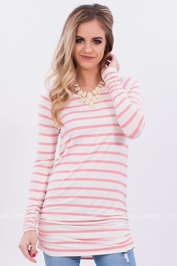 Sweet Love Striped Tunic in Pink