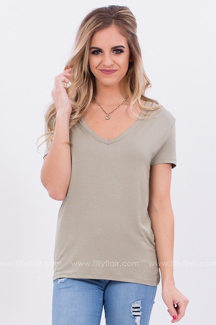 Not Your Average Cut Out Tee in Sage