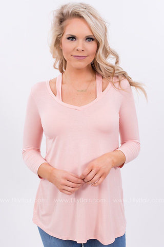 Daily Love Cut Out Top in Pink
