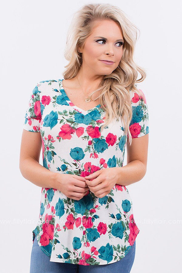 Summer Escape Floral Printed Tee