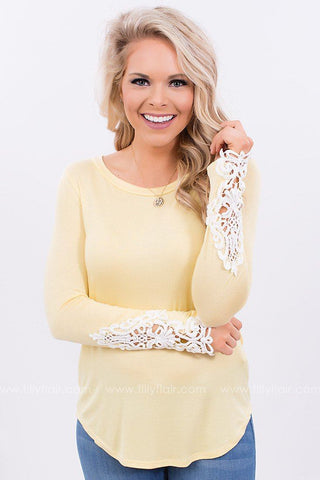 Good Company Crochet Top in Yellow