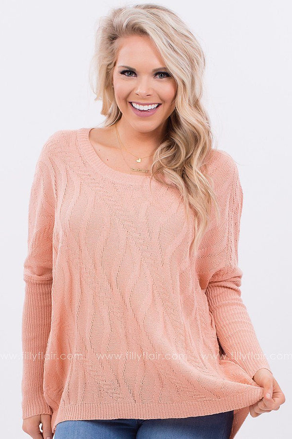 My Story Sweater in Peach