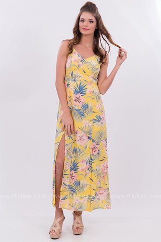 Tropical Dreams Dress in Yellow