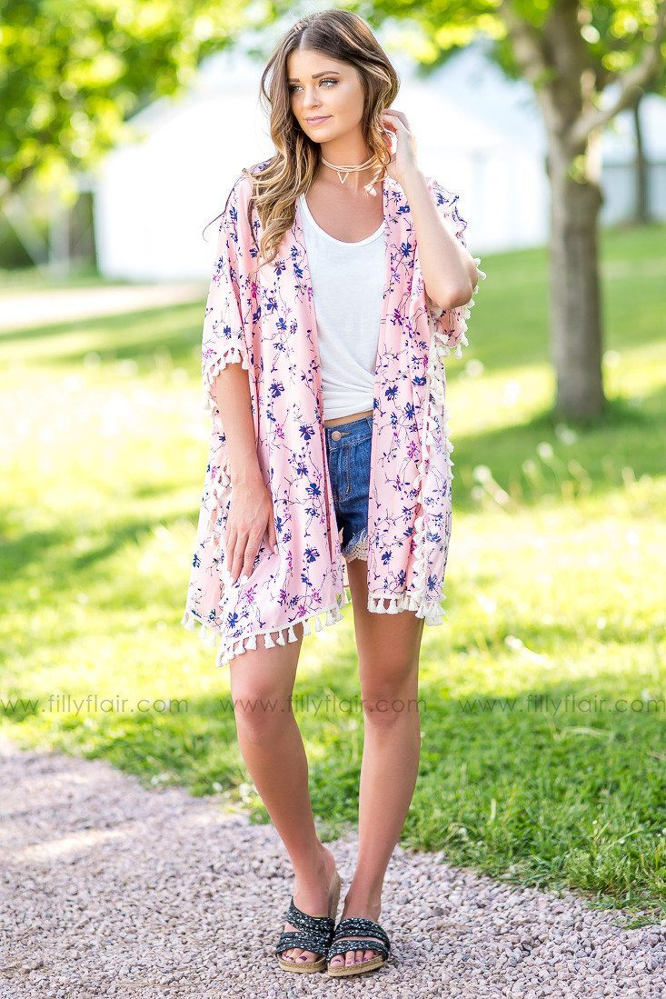 Sunny Day Floral Kimono in Pink