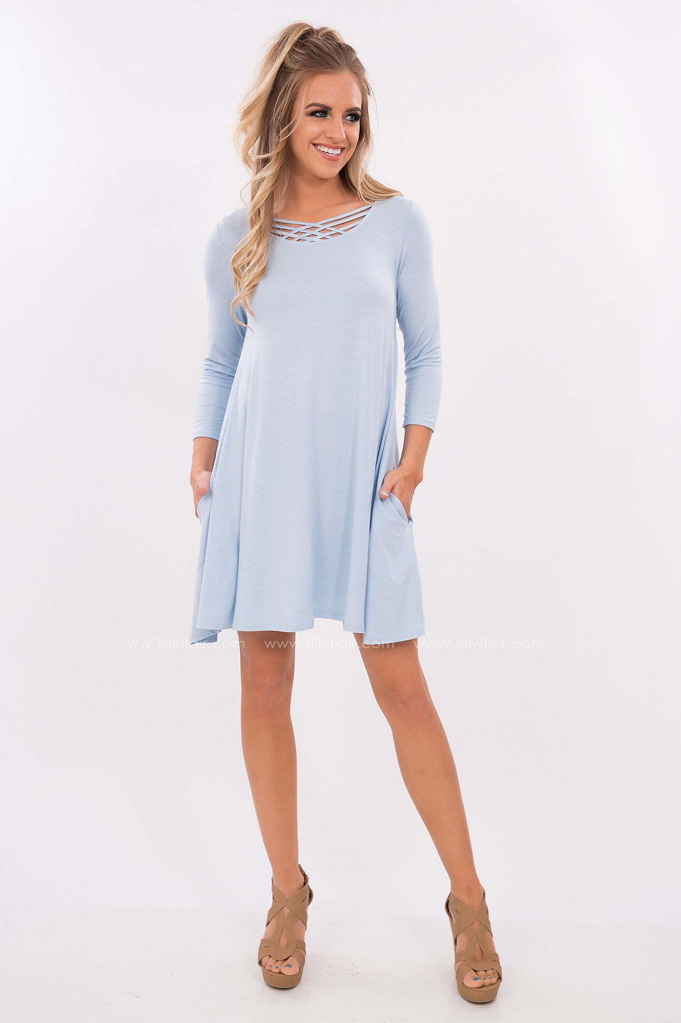 Baby Blue T-Shirt Dress