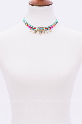 Rainbow Lights Layered Choker