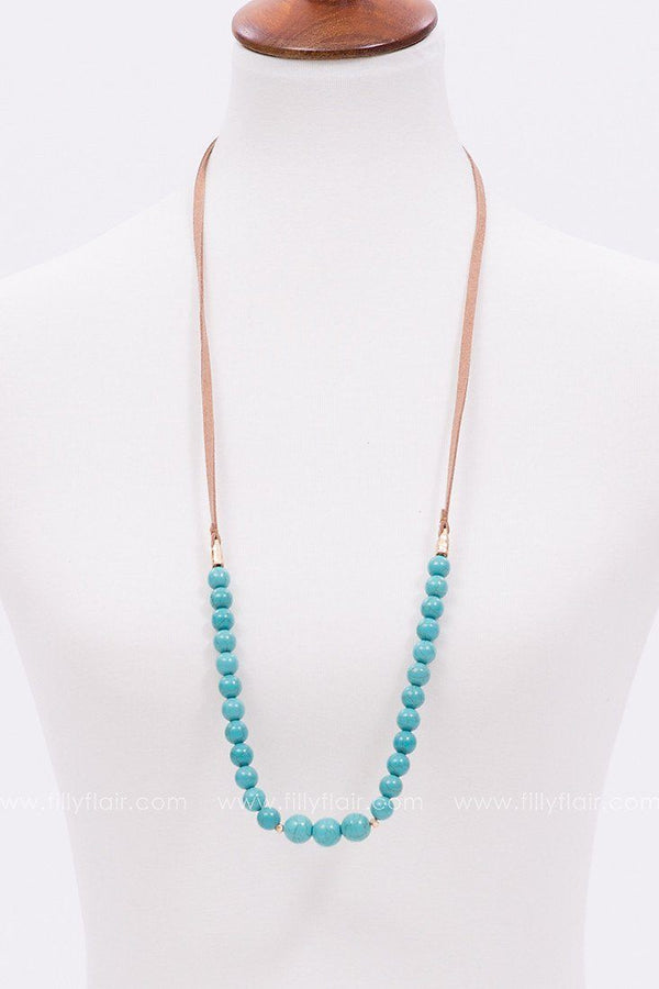 Shine On Beaded Necklace in Turquoise
