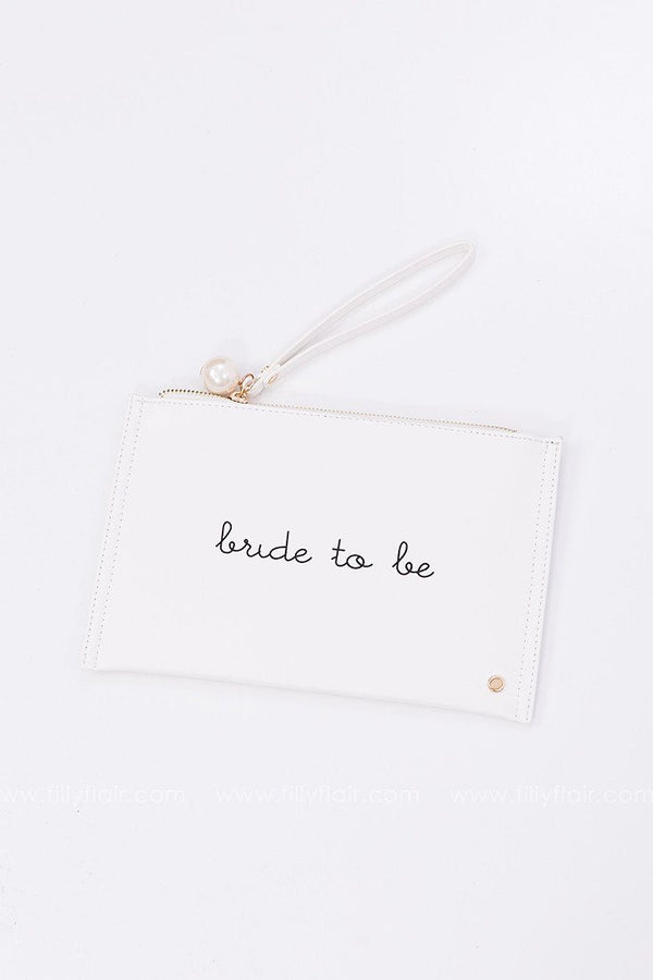 Bride To Be Clutch in White