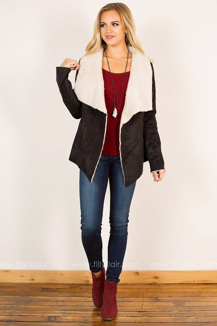 Come Apart Draped Jacket in Black