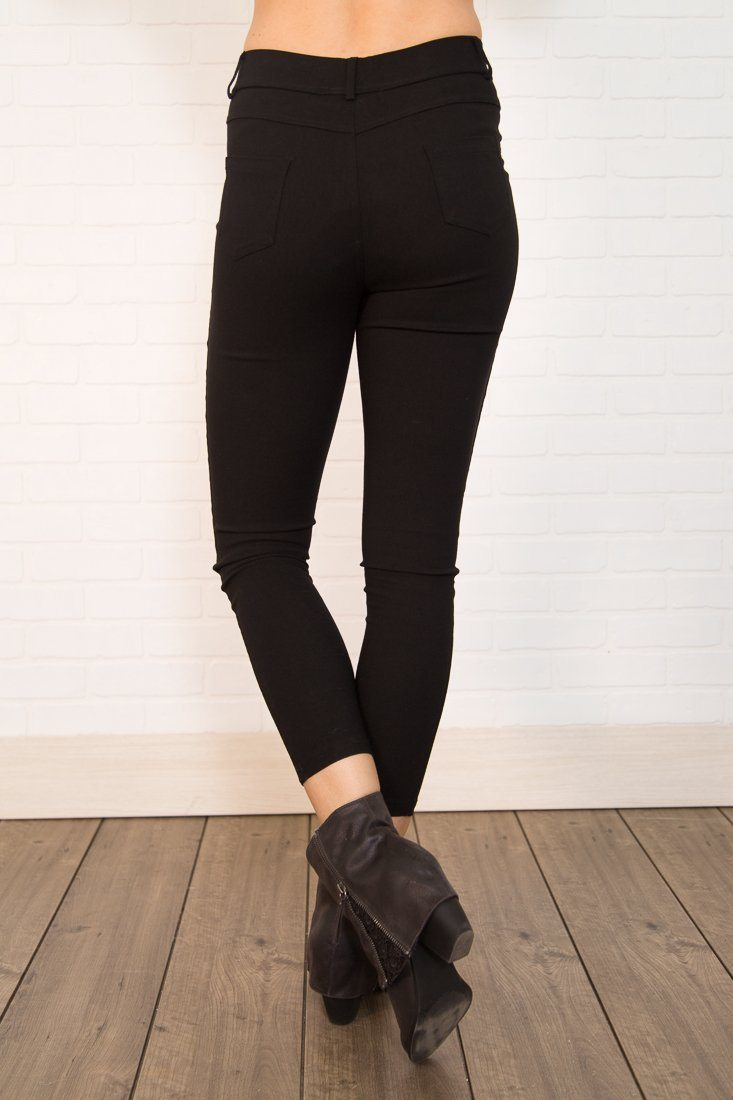 Beyond Black Solid Jeggings - Filly Flair