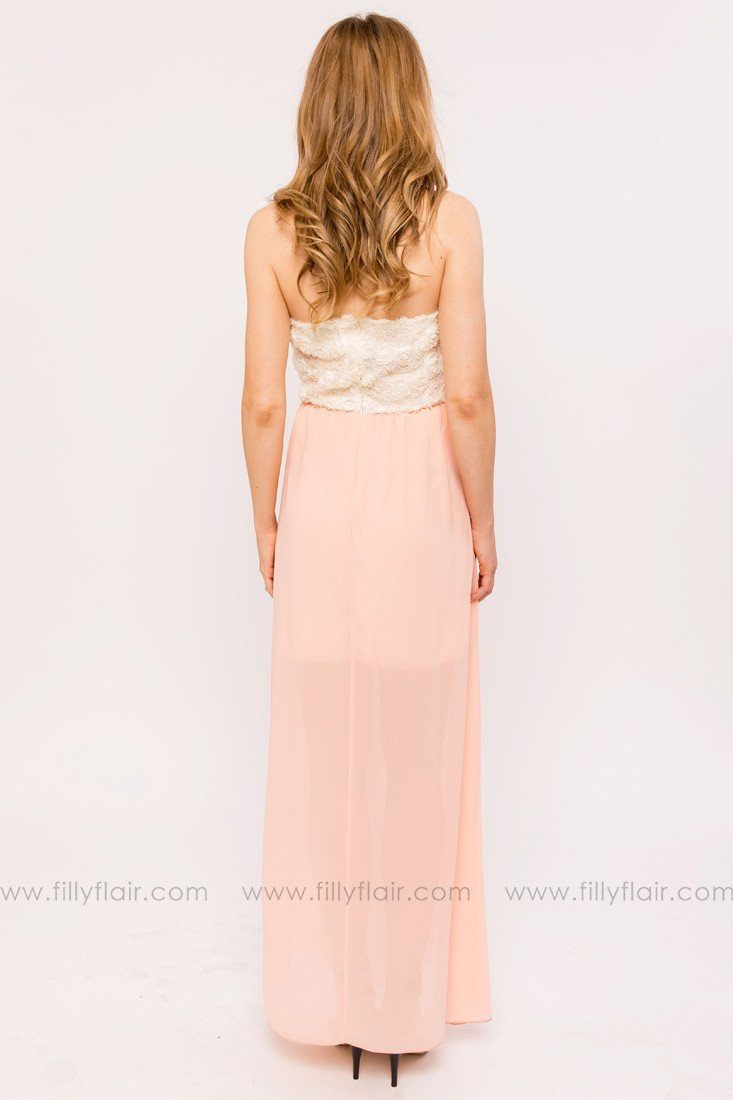 Natalie Bridesmaid Dress in Peach