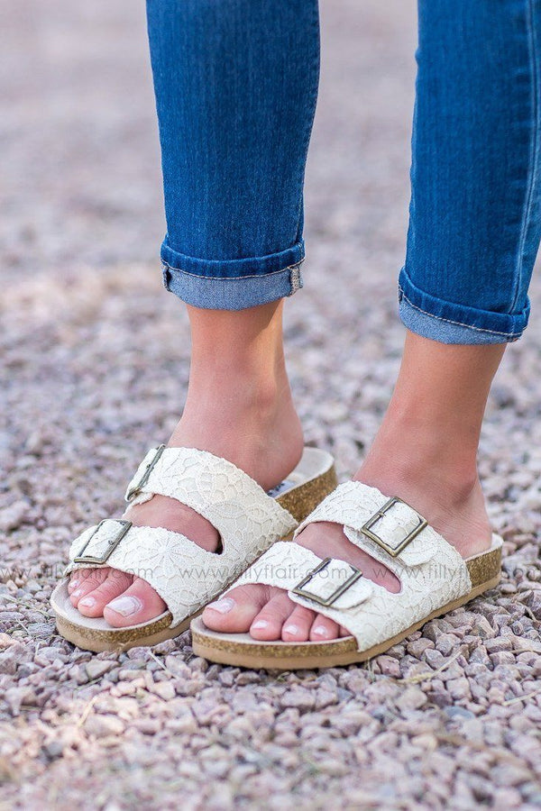 Not Rated Kisha Cream Sandals