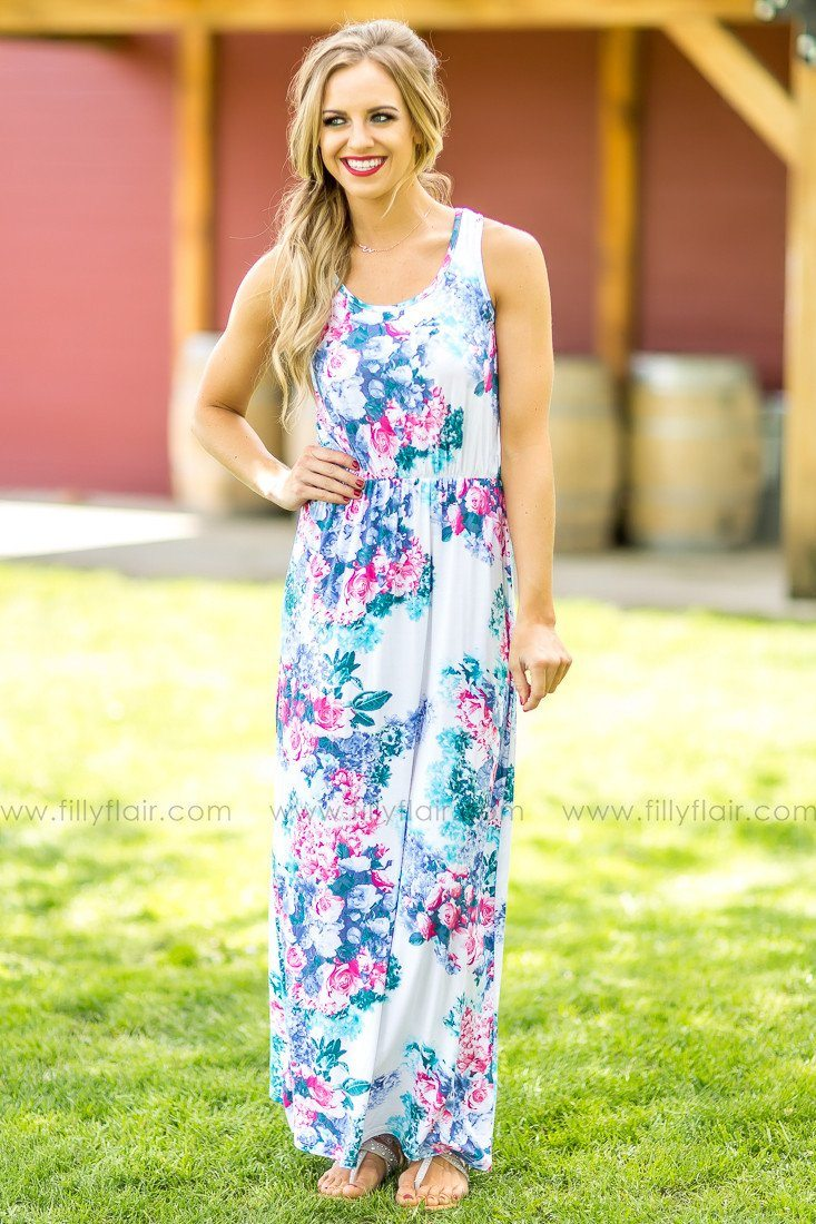 Life Beyond Floral Maxi Dress in Ivory