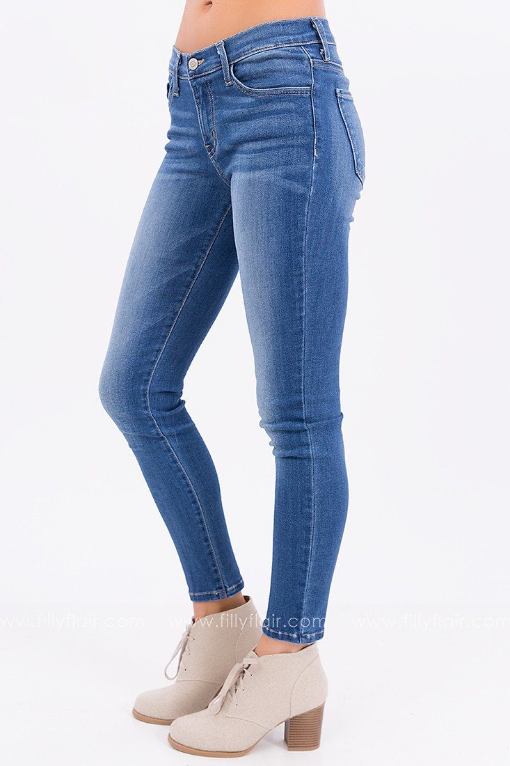 Blue Bleach Flying Monkey Skinny Jean
