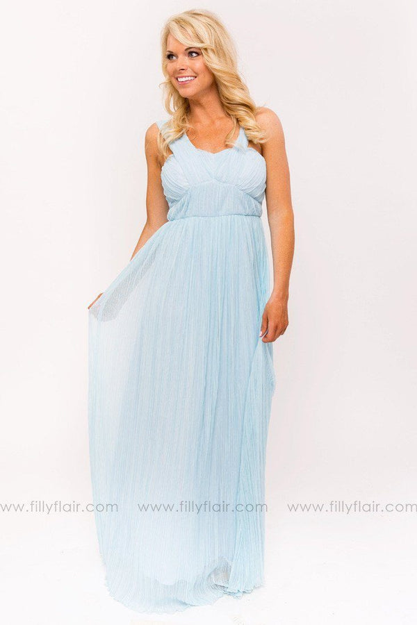 Alena Bridesmaid Dress in Light Blue