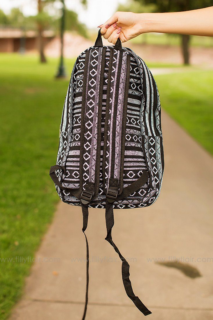 Day Trip Backpack in Black and White