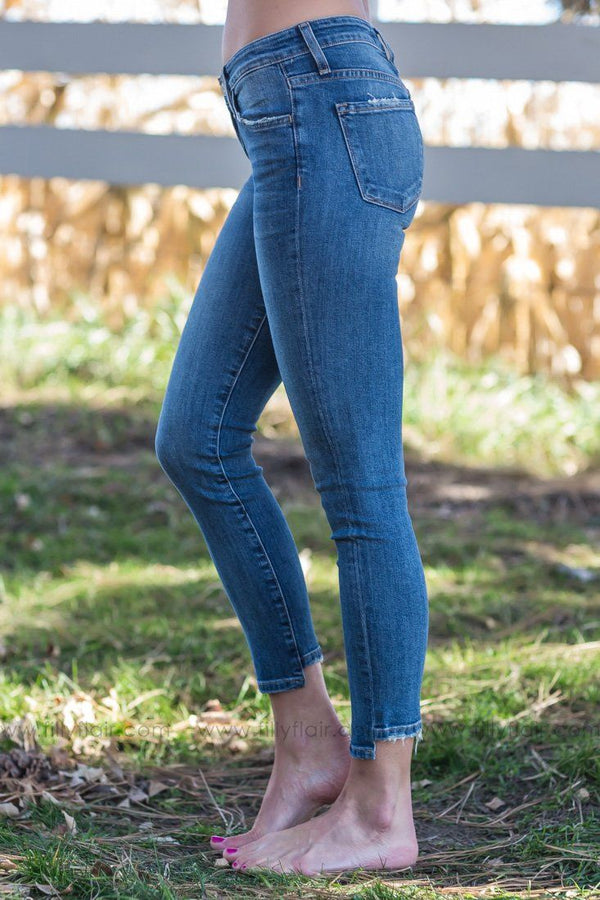 Faith Flying Monkey Skinny Ankle Mid Rise Jeans - Filly Flair