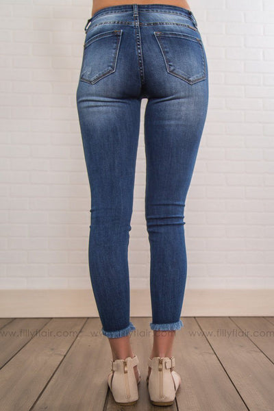 Kit Kan Can Medium Wash Medium Rise Ankle Jeans - Filly Flair