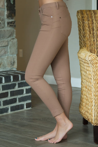 Have It All Skinny Jeans In Tan - Filly Flair