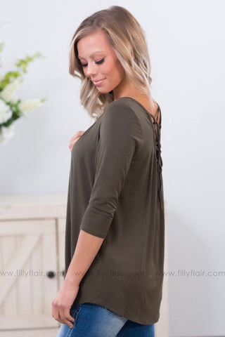 Good Together Off The Shoulder Side Lace Up Sweater In Camel