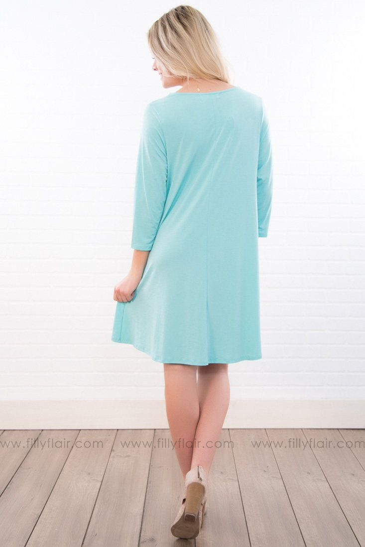 Little Miss Solid Mini Dress In Mint