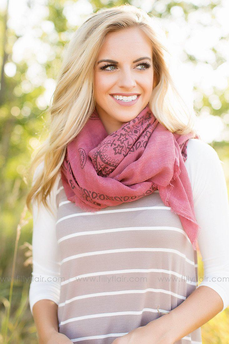 Style for Miles Scarf in Maroon