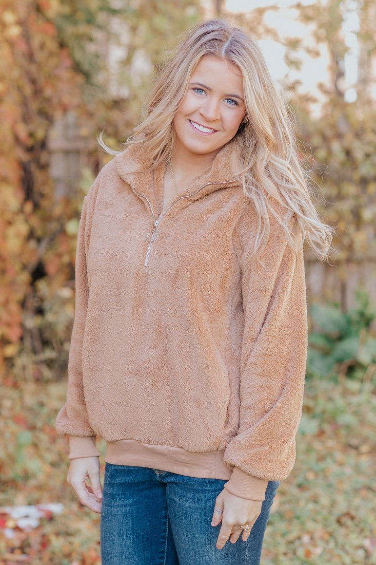 Take A Ride Long Sleeve Split Front Cowl Neck Top in Hunter Green - Filly Flair