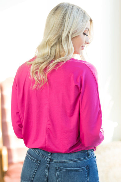 Devoured Dolman Top In Fuchsia - Filly Flair