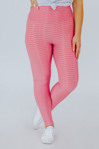 Life is a Highway High Waist Leggings in Pink - Filly Flair