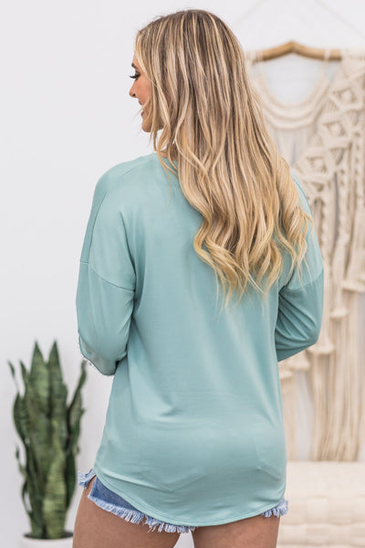 Discover Your Soul Top In Sage - Filly Flair